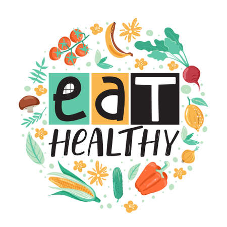 Healthy lifestyle concept. Inspirational inscription. Stylish typography slogan design