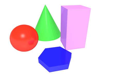 geometry shapes Stock Photo - 18424134