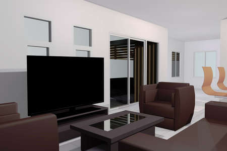 interior desing: Living room Stock Photo