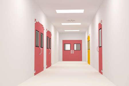 corridors: Clean Corridors Stock Photo
