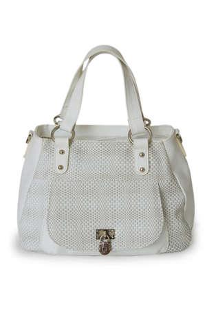 White bag isolated on white background. Stock Photo