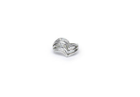 Jewellery ring isolated on the white background Stock Photo