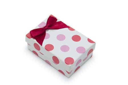 Single gift box on white background  Stock Photo - 18420021