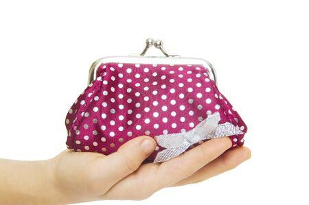 Purse change isolated on white  photo