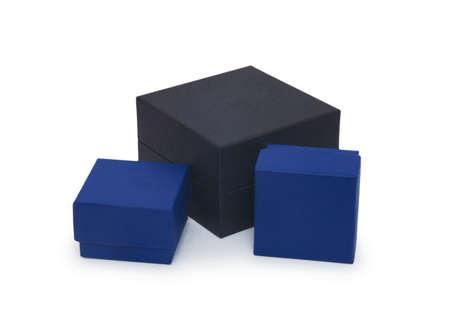 Three gift box isolated on white  Stock Photo - 18420410