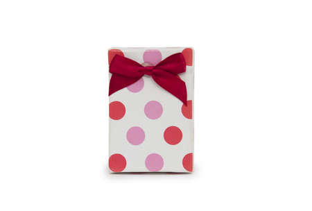 Single gift box on white background.  Stock Photo - 18419938