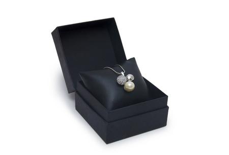 Luxury necklace in box Stock Photo