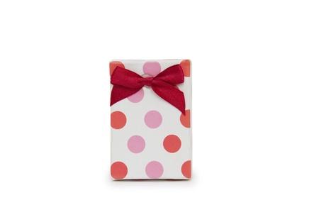 Single gift box on white background. Stock Photo - 18424150