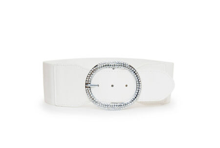 belt white color isolated  photo