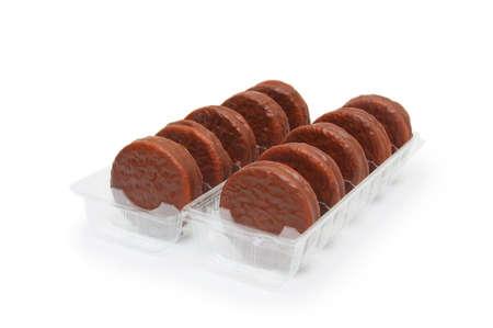 cikolatali: cookies isolated on white background.