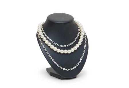 Necklace isolated on the white background  photo