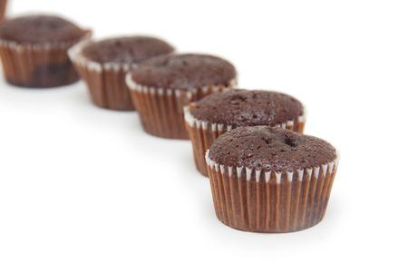 cikolatali: cookies isolated on white background.  Stock Photo