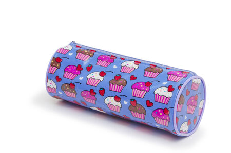 A pencil case isolated against a white background  photo