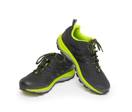marathon runner: sneakers isolated on white background  Stock Photo
