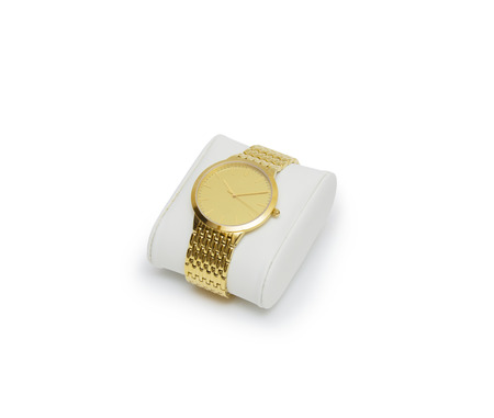 golden watch isolated on a white background  photo