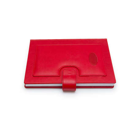 scientific literature: book red on white background