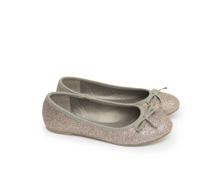 Ballet shoes isolated on the white Stock Photo