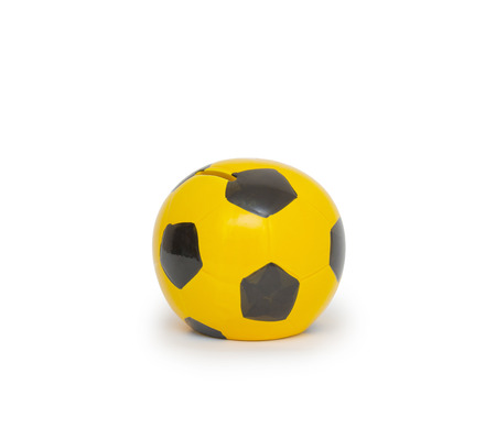 moneybox in the form of the ball Stock Photo