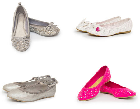 female shoes collection isolated on white background photo
