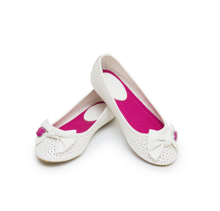 ballet shoes isolated on the white background photo