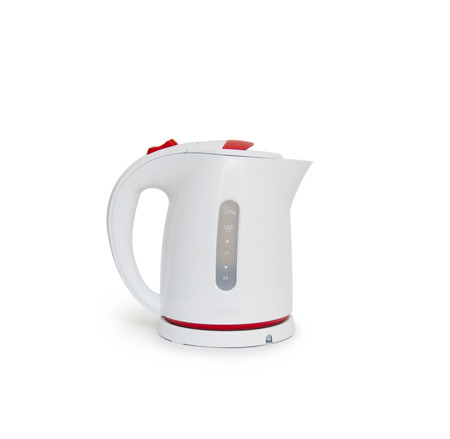 Electric kettle isolated on white  photo