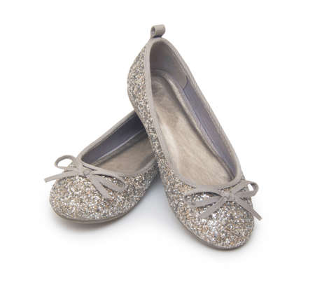 ballet shoes isolated on the white  photo