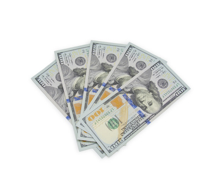 thousands: dollars currency isolated Stock Photo