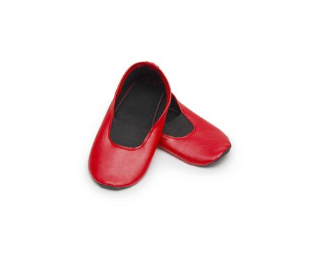 gym shoes: Childrens gym shoes isolated against a white background
