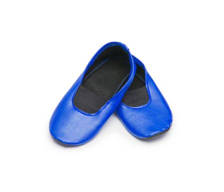 rubber sole: Childrens gym shoes isolated against a white background