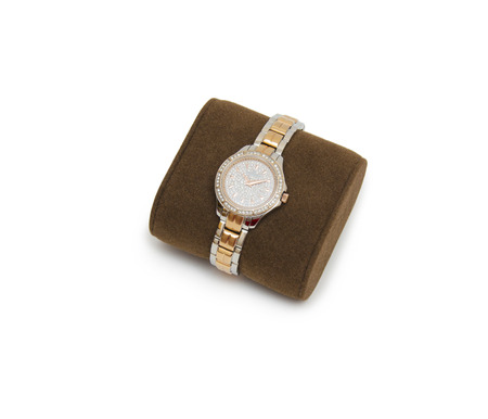 jewlery: golden modern wrist watch isolated