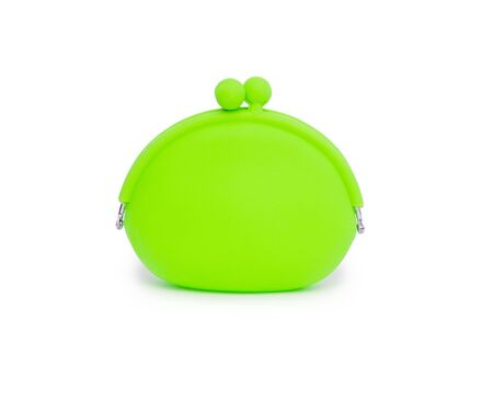 silicone: silicone coin purse isolated over white