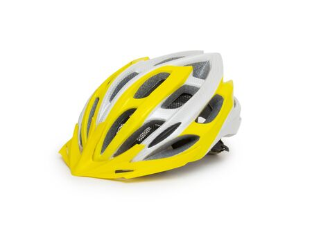 x country: Bicycle mountain bike safety helmet isolated Stock Photo