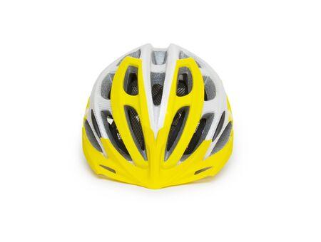 Bicycle mountain bike safety helmet isolated Stock Photo