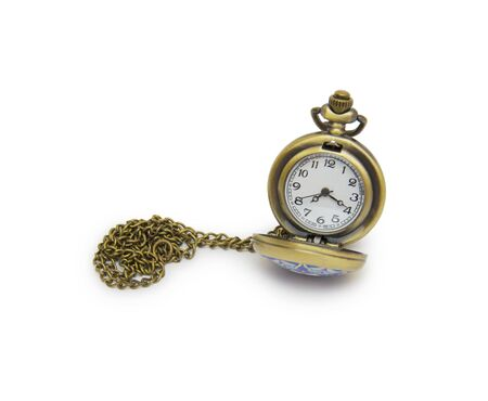 azeri: pocket watch on white background