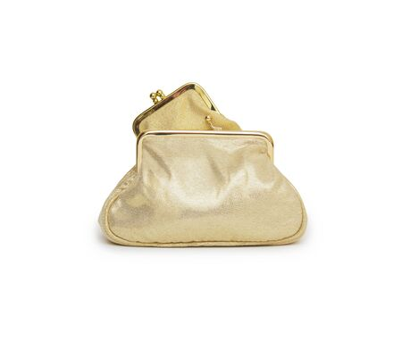 Woman purse (wallet) isolated on the white background Stock Photo