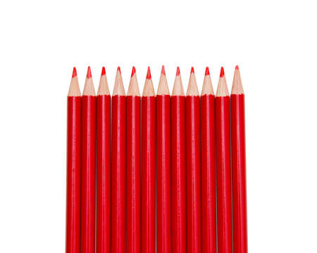 Red Pencils, isolated Stock Photo