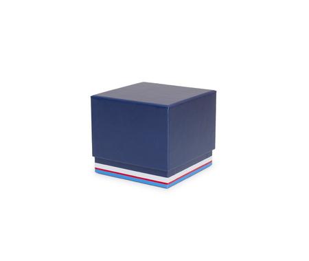 Blue box isolated on white Stock Photo