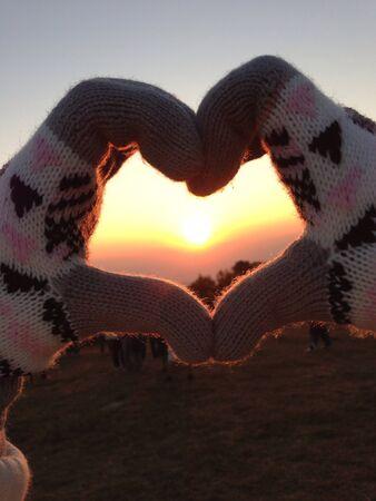 hart: Sunrise in hart shape