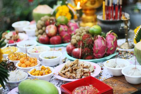 sermon: Thai food for pay respect to god,Offerings to gods