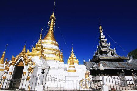 public domain: Temple Chong Klang and Chong Kham (Ancient Temple Public domain) in Mae Hong Son province, Northern Thailand