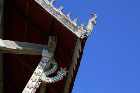 gabled: Gable of of the temple, Thailand.