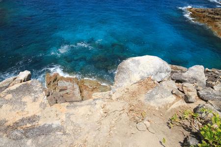 rock strata: Wild coast of the Thailand Stock Photo