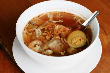 mush: Boiled rice pork or mush for breakfast,add pork chops and boiled egg.Thai breakfast