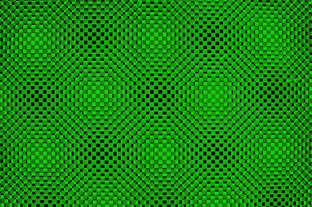 Three-dimensional design in green photo
