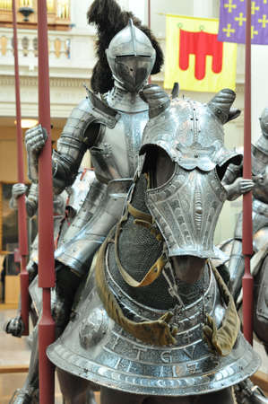 Knight armors and weapons