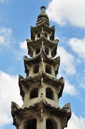 dynasty: ancient stone Pagoda