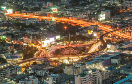 water scape: City Scape of  Bangkok Stock Photo