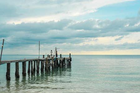Bridge on beach photo