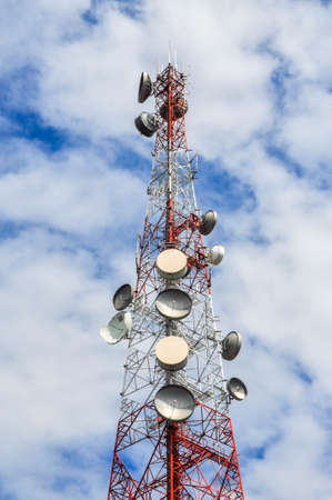 satellite dishes antenna tower Stock Photo - 17997977