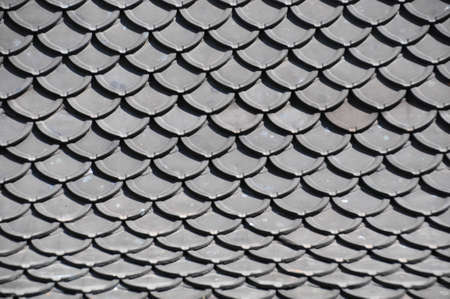 shingles: Roof of thai temple texture Stock Photo